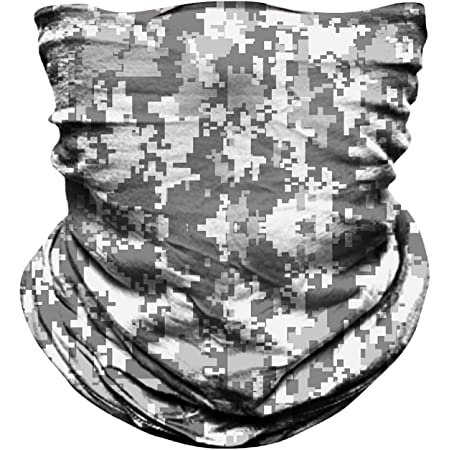 MIRKOO Outdoor Camouflage Face Mask, Breathable Seamless Tube Dust-proof Windproof UV Protection Motorcycle Bicycle ATV Face Mask for Motorcycling Cycling Hiking Camping Climbing Fishing (OCAMO-344)