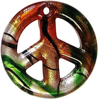 Murano Glass Pendant/Love & Peace Pendant/Millefiori Chunky Pendant/ 3 Pcs Set