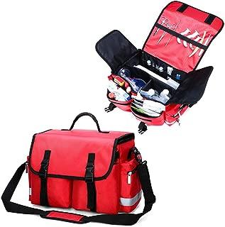 Bolsa De Trauma De Primera Respuesta, Bolsa Grande De Primeros Auxilios, para Emergencias En El Hogar, Oficina, Automóvil, Aire Libre, Barco, Camping, Senderismo - (Rojo, Azul, Naranja),Rojo