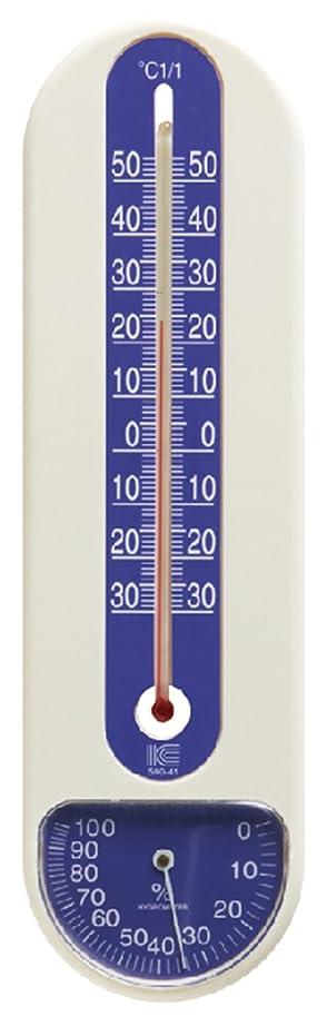 鉱石挑発するミルアイシー 温湿度計 サーモ500 25.4cm -30~50℃ ブルー
