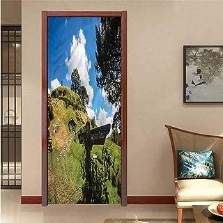 Hobbits,Door Sticker Wall Paper Hobbits Art Door Decals W17.1xH78.7