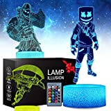 3D Battle Royale Night Light - 3 Pattern 16 Color Change Decor Lamp with Remote & Smart Touch, Christmas and Birthday Gifts for Battle Royale Fans