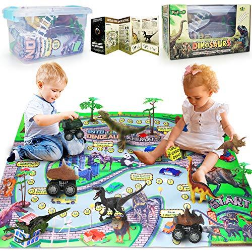 Dinosauri Giocattolo Jurassic World - Figure Di Dinosauro Giocattolo Con Tappetino Da Gioco E Alberi - Giochi Bambini Compreso T-Rex - Regali Per Ragazzi - Dinosauro Gigante Giochi Per Ragazzi
