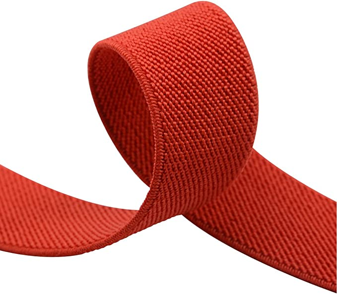 iCraft 1-Inch by 5-Yard Red Colored Double-side Twill Non-Roll Wowen Elastic by iCraft