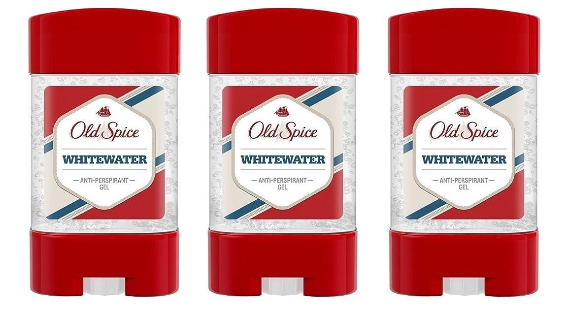 チャネル繁殖疼痛(Pack of 3) Old Spice Whitewater Antiperspirant Deodorant Gel Stick for Men 3x50ml - (3パック) オールドスパイスホワイトウォーター制汗剤デオドラントジェルスティック男性用3x50ml