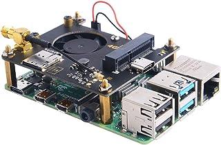 GeeekPi RPi 4G / 3G Hat for Raspberry Pi Zero/Zero W/Zero WH/2B/3B/3B+/4B,Jetson Nano,Supports SMS, MMS, Mail, TCP, UDP, D...