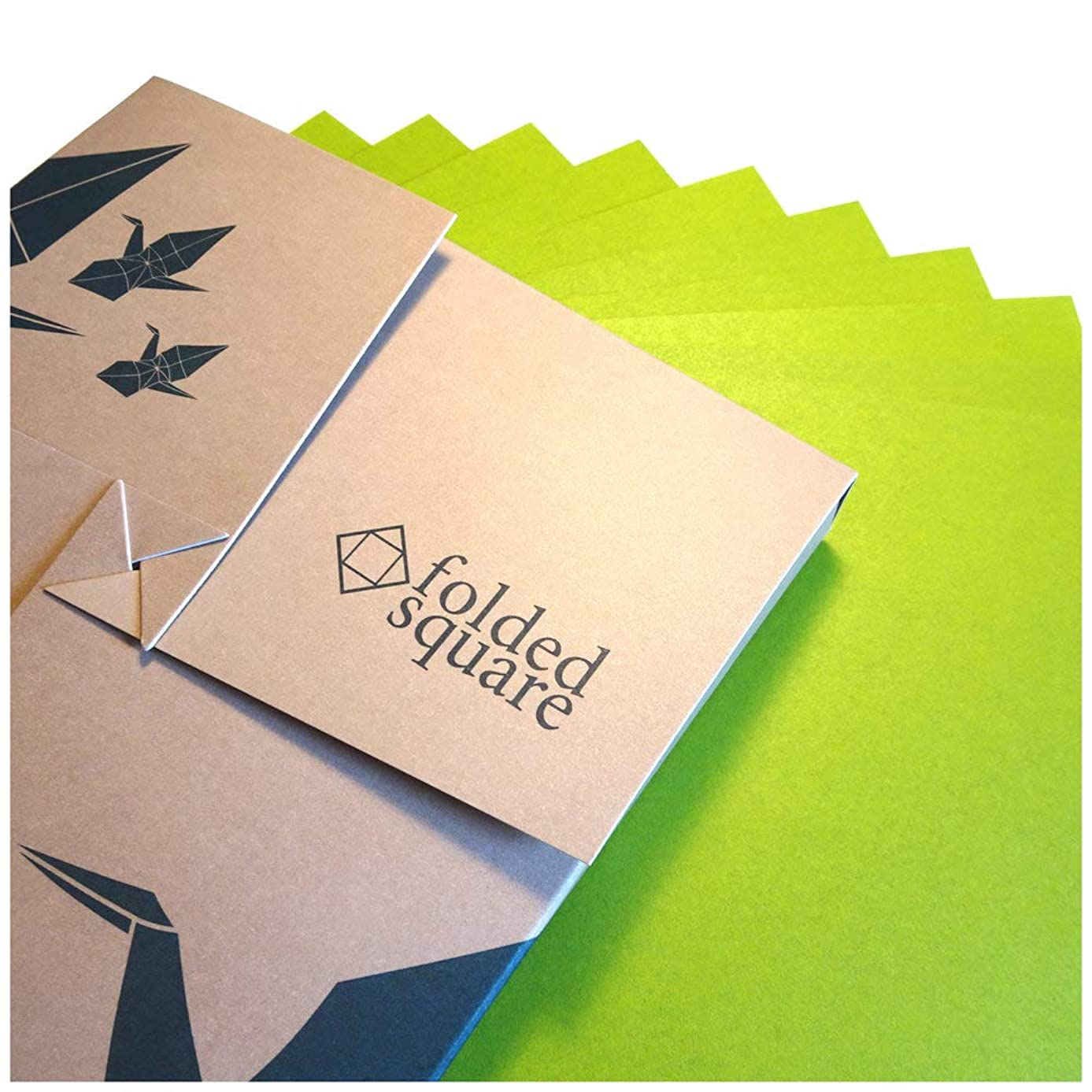 Green Origami Paper | 100 Sheets, 6