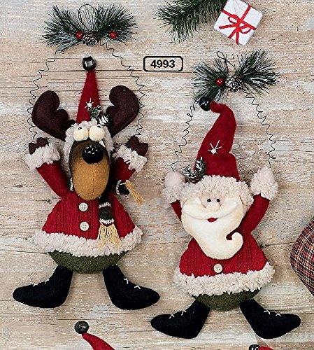 Hänger Elch & Santa 2tlg Set Advent Deko Tür Fenster Weihnachten christmas