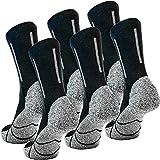Nordhorn 6 paar Arbeitssocken Herren - Robuste Baumwolle Berufssocken - Atmungsaktive Freizeit Socken (41-43, Schwarz 03)