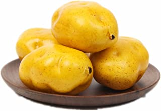 Qty(6) Lifelike Artificial Fake Potatoes Set Realistic Vegetable Model Simulated Playset for Pretend Play Toy, Home Decoration, Market Display & Photography Props