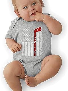 H@PAPA01 USA Hockey Cotton Baby Infant Jersey Bodysuit Onesie