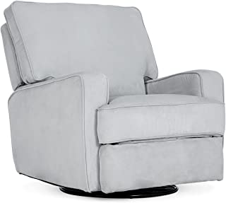 Belleze Recliner Chair Padded Armrest Backrest Living Room Swivel Reclining Chairs Comfort Footrest Linen, Gray