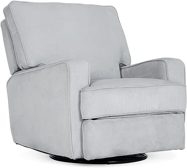 Belleze Recliner Chair Padded Armrest Backrest Living Room Swivel Reclining Chairs Comfort Footrest Linen Gray