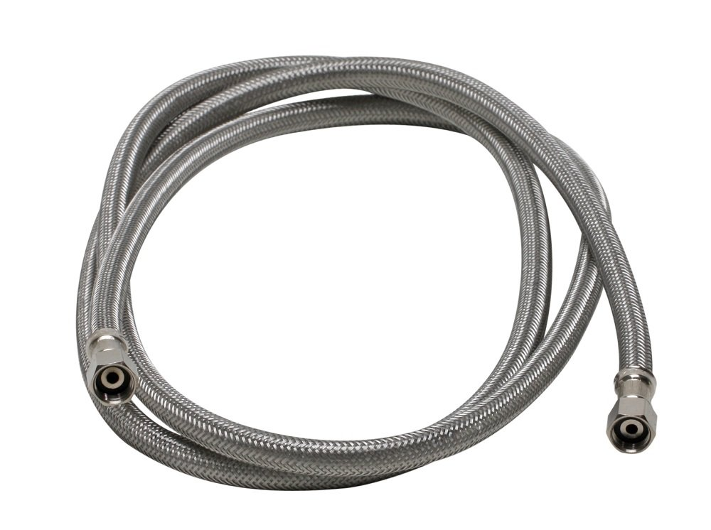 Fluidmaster 12IM72 Braided Stainless Steel Ice Maker Connector Water Line with Dual 1/4-In. x 1/4-In. Female Compression Threads, 6 Ft. (72-In.) Length
