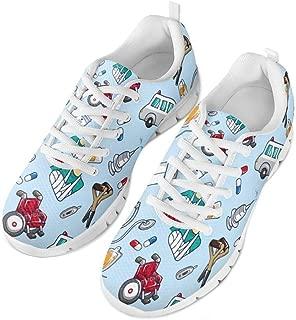 Spring Summer Nurse Flats for Women Men Running Walking Sneakers