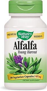 Nature's Way Alfalfa Leaves, 1,215 mg, 100 Vegetarian Capsules, Pack of 2