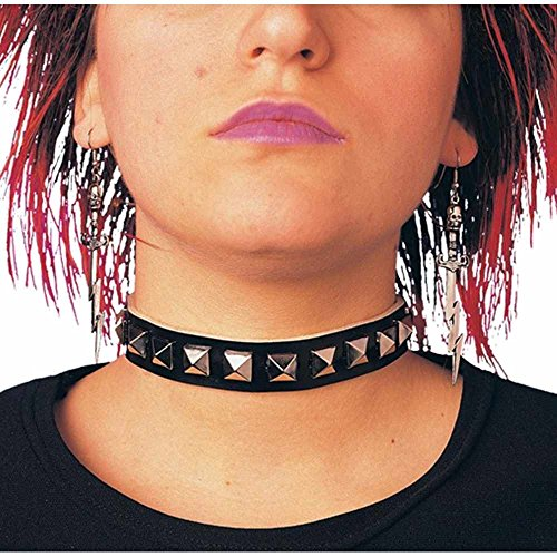 Pyramid Studded Choker for Rock and Punk Dress-Up