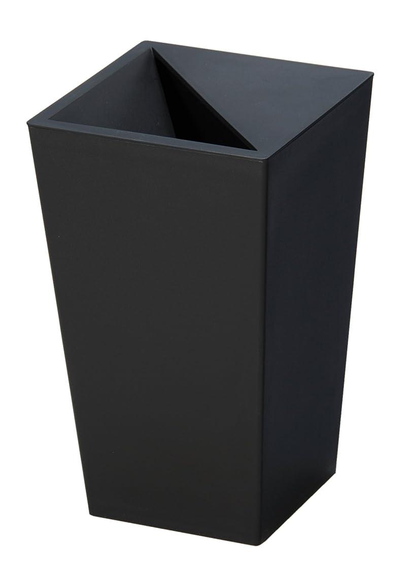 タバコつなぐ会話型トンボ ユニード カクス ごみ箱 5.5L ブラック S-28