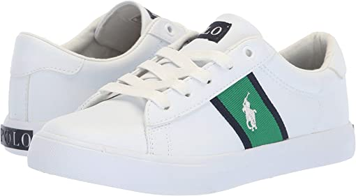 White Tumbled/Green/Navy/White Pony