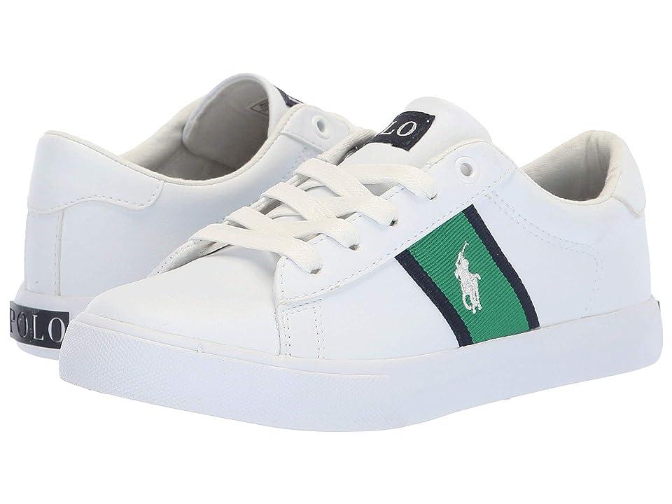 Polo Ralph Lauren Kids Geoff (Little Kid) (White Tumbled/Green/Navy/White Pony) Boy