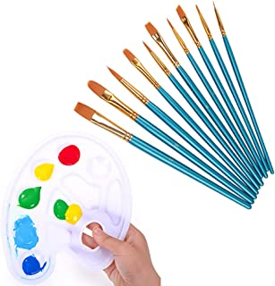 Beauenty- Watercolor Brushes ,Art Paint Brush Set and Paint Palette, for Kids and Adults to Create Art Paint palettes ((10...