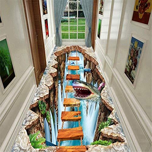 3D Undersea Shark Runner Teppich for Flur Küche Lage Teppiche Waschbar Griffige Treppen Bodenmatten for Breite und Länge Hall Rugs (Size : 80x150cm)