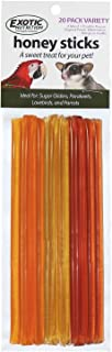Honey Sticks (4 Variety 20 Pack) - All-Natural Sweet Honey Treat - Made with Orange Blossom Honey - Sugar Gliders, Marmosets, Parrots, Canaries, Finches, Parakeets, Cockatiels, Other Birds