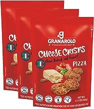 Granarolo Italian Cheese Crisps Pizza Flavored - 2.11 oz ea (3 Pack) - Oven Baked, Gluten free, Vegetarian, Lactose Free!!