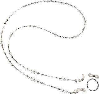 Crystal OR Black & Silver beaded Eyeglass Holder 28