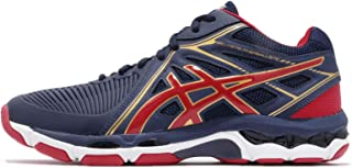 ASICS Men's Gel-Netburner Ballistic MT, Indigo Blue/Prime RED/Rich Gold