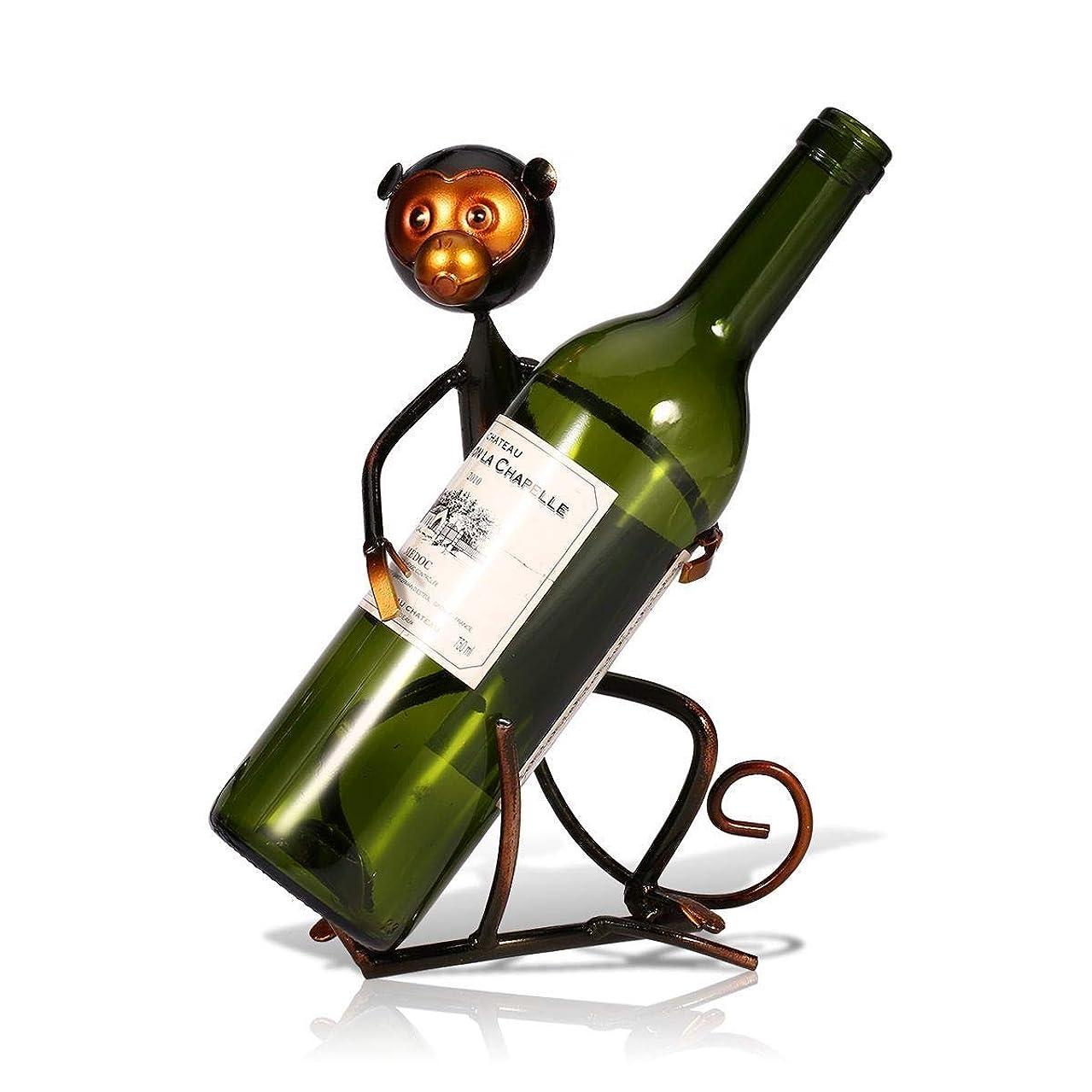 通信網飛ぶスリチンモイShiSyan 置物 贈り物 金属モンキー形状ワインワインは、ホームデスクトップポーチデコレーションバーレストランの装飾レトロ古いクラフトクリエイティブパーソナリティスタイリッシュで美しいラック プレゼント