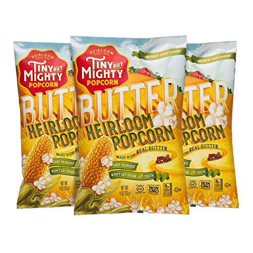 Tiny But Mighty Butter Heirloom Popped Popcorn, Pack of 3