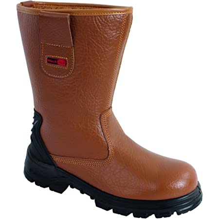Blackrock SF01 Fur Lined Safety Rigger Boot (Tan) S1-P SRC, Size 5