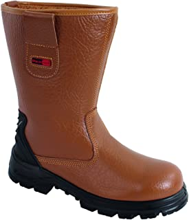 Blackrock SF01 Fur Lined Safety Rigger Boot (Tan) S1-P SRC, Size 9