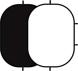 Selens Schwarz weißer Hintergrund 150 x 199,9 cm Pop Up Hintergrund mit Tragetasche für YouTube Streaming Fotostudio, Portrait, Indoor Fotografie