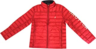 Mens Quilted Water Resistant Reversible Puffer Jacket