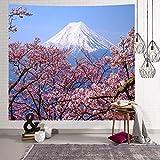 Brandless Tapiz japonés Japón Pagoda Monte Fuji en la Primavera Flores de Cerezo Colgante de Pared Manta de Pared Toallas de Playa Decoración para el hogar