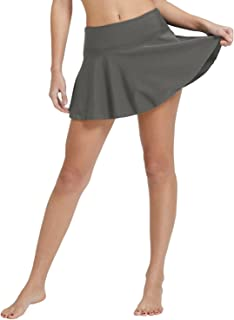 BALEAF Women's Swim Skirt High Waisted Flounce Swimming Skort Bikini Bottom Tankini Swimsuit