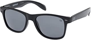 Caterpillar Unisex-Adult Purlin 104P Polarized Square Sunglasses, Matte Black, 53 mm