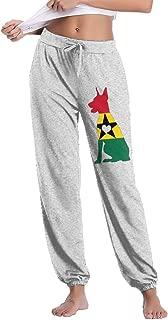 MWK@67 Womens Casual Sweatpants Ghana Flag Adore Dobermans Dog Jogger Sweatpants Trousers Elastic Waist Pants