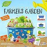 RMS Grow and Paint Your Own Farmers Garden Pflanzensamen, um Erdbeeren, Salat und Baby-Gurken zu züchten,