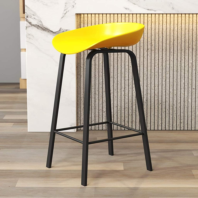 Dessert Shop Bar Stool, Plastic Stool Surface Metal Bracket Bar Chair Simple High Stool Breakfast Bar Water Bar High Stool Height 65-75CM (color   D, Size   75cm)