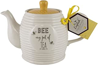 English Tableware Company Bee Happy Bee My Pot of Tea Teapot 33.81 fl oz