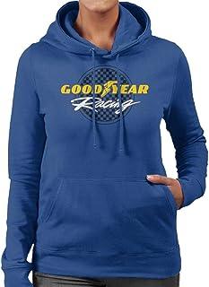 Goodyear Racinglogotyp huvtröja för kvinnor