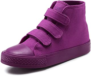 MK MATT KEELY High Top Canvas Shoes Kids Toddler Girls Boys Sneakers Lace up School Board Shoes Purple