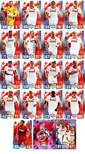 Match Attax Bundesliga 2015 2016 - Karten-Set 1. FC Köln Cap Viererkette Clubkarte - Deutsch