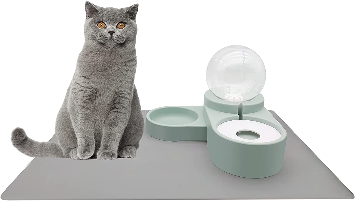 AMAN Life OFFer Cat Dog Bowl Large Auto Silicon Miami Mall Safe Waterer
