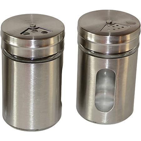 24x Gewürzstreuer 16x Salz 8x Pfeffer Glas Set