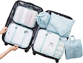 MEGICOT 7 Set Travel Storage Bags with Packing Cubes, Flat Bag, Shoes Bag, Beam Bag, Multi-functional Waterproof Clothing ...
