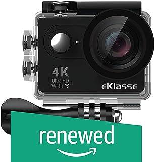 """(Renewed) eKlasse EKAC02EG Action Camera 4K Ultra HD, 2"""" Full HD Display, Wi-Fi (Black)"""